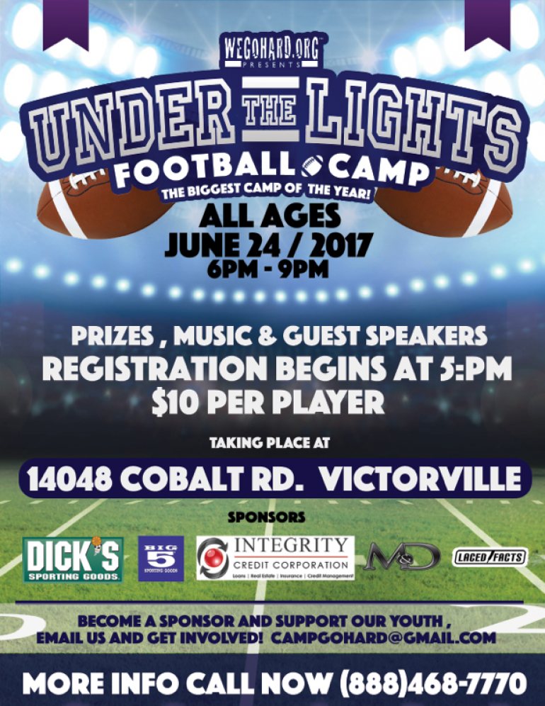 Under The Lights Football Camp