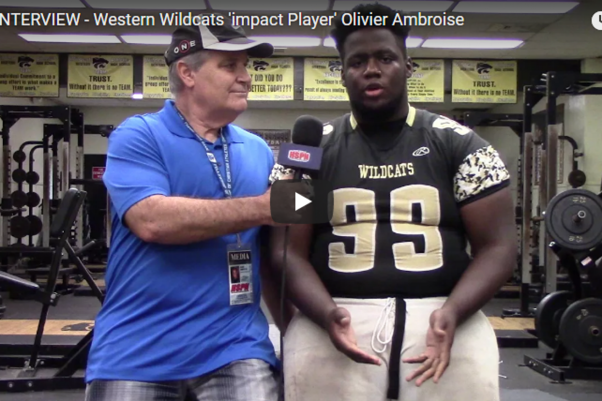 HSPN FLORIDA – WESTERN WILDCAT 'IMPACT PLAYERS' RUEBEN OLIVER, ETHAN RODRIGUEZ, OLIVIER AMBROISE