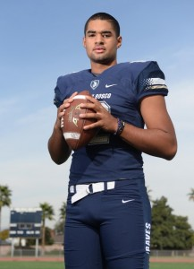 St. John Bosco quarterback DJ Uiagalelei.  Bellflower Calif., Monday, November 20, 2017.          ( Photo by Stephen Carr, Daily Breeze / SCNG )